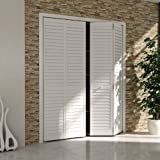 Bi-fold Closet Door, Louver Louver Plantation White (36x80)