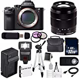 Sony Alpha a7R II Mirrorless Digital Camera (International Model no Warranty) + Sony E-Mount SEL 1855 18-55mm Zoom Lens (Black) + 49mm 3 Piece Filter Kit 6AVE Bundle 22