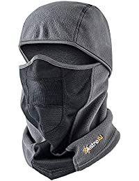 Ski Mask Balaclava for Men & Women Windproof Breathable Face Mask for Cycling Motorcycle (Superfine Polar Fleece, Gray)