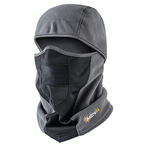 AstroAI Ski Mask Windproof Balaclava Breathable Face Mask, Gray