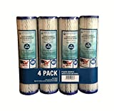 WFD, WF-PE1020 2.5''x9-3/4'' 20 Micron Pleated Sediment Water Filter Cartridge, Fits in 10'' Standard Size Housings of Undersink RO or Filtration Systems (4 Pack, 20 Micron)