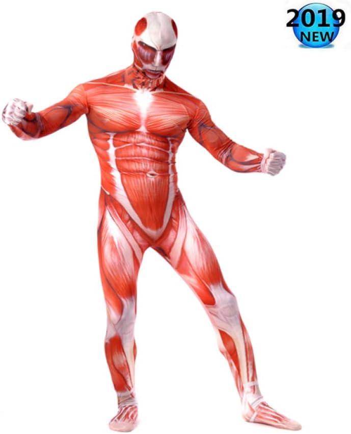 Disfraz De Músculo De Halloween Hombres Superhéroe Carnaval Medias ...