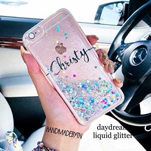 Floating Cell (Personalized holographic silver liquid floating glitter Phone case for iPhone case Samsung galaxy Note 8 case, Note 9 case, S9 Plus case, S9 case, iphone xs max case, iphone xs case, iphone xr case)