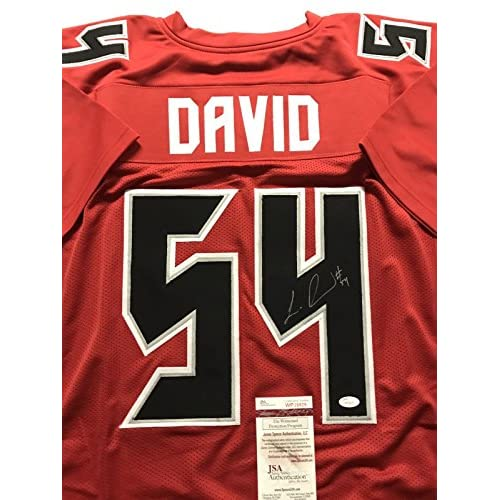 best deals on 019e5 2cbaf Autographed/Signed Lavonte David Tampa Bay Buccaneers Color ...