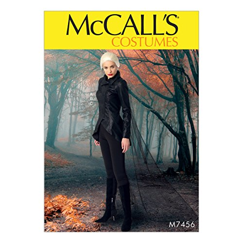 (McCall's Patterns M7456A50 Misses' Seamed, Stirrup Leggings and Cape Jacket)