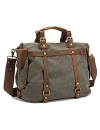 SAIERLONG Men's And Women's Messenger Bags Shoulder Handbags Gray Canvas