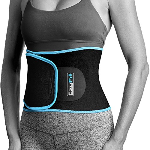 EzyFit Waist Trimmer Premium Weight Loss Ab Belt for Women & Men Exercise Exercise. Sweat Enhancer Adjustable Fat Burner Stomach Wrap. Sweet Abdominal Muscle & Back Support Plus Bonus Mesh Bag – DiZiSports Store