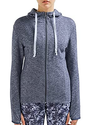 SPECIAL MAGIC Women's Active Baby Terry Full-Zip Cotton Hooded Sweatshirt Hoodies