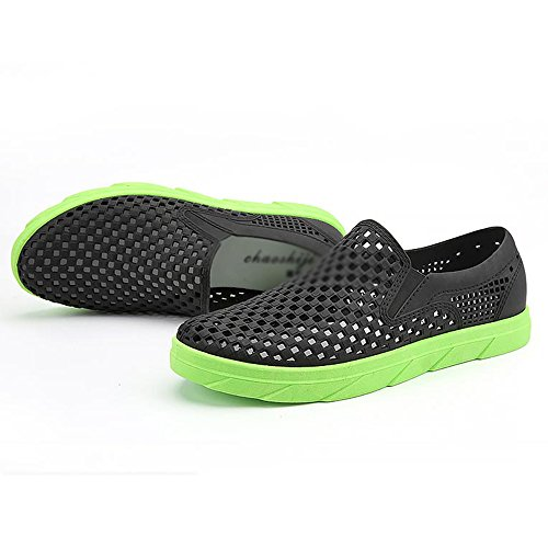 Sandals Men's Summer Orange Student UK6 Low MAZHONG 5 Hollow Green Help Soft Size Hole Outdoor Leisure Color Breathable EU39 CN40 RtrtxwgW