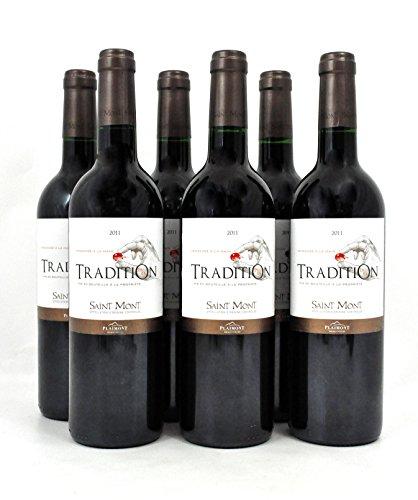 Rot-Wein aus Frankreich: En La Tradition, AOP Saint Mont rouge, Madiran, 70% Tannat, Handlese, im Genießer-Set, 6 Flaschen à 0,75 l