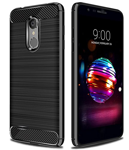 LG K30 Case,LG Phoenix Plus Case,LG Premier Pro Case,LG Harmony 2 Case,Asmart Shock Absorption LG K30 Case Slim Flexible Cover Carbon Fiber TPU Protective Phone Case for LG K10 2018 (Black)