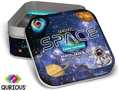 (Qurious Space | STEM Flash Card Game | Explore, Match, Quiz & Spin Through The Universe. Perfect for Astronomy Fans and Future)