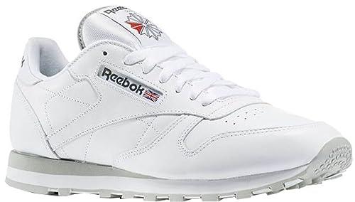 Reebok Zapatillas de Piel para Hombre Blanco Blanco 48.5