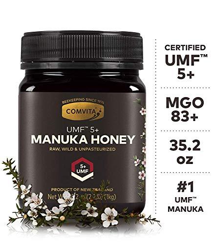 Comvita Certified UMF 5+ (MGO 83+) Raw Manuka Honey I New Zealand's #1 Manuka Brand I Authentic, Wild, Unpasteurized, Non-GMO Superfood for Daily Wellness I 35.2 oz (Best Value)