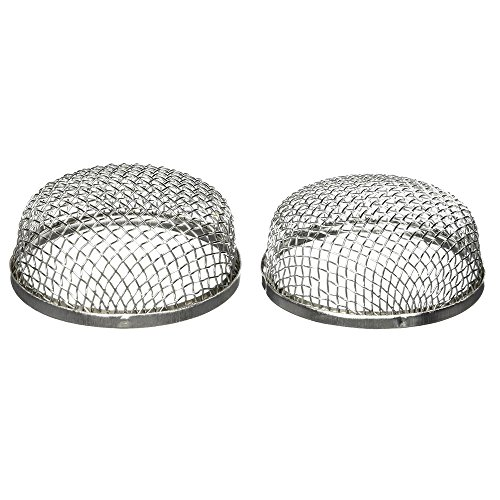 ALEKO RVS003 Stainless Steel RV Vent Screen for Bugs Birds Rodent Protection 2.8 x 1.2 Inches Lot of 2