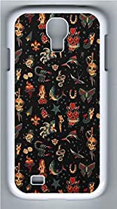 Galaxy S4 Case, Personalized Protective Hard PC White Edge Evil Bg Case Cover for Samsung Galaxy S4