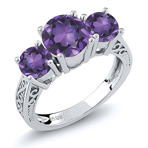 Round Amethyst Fashion Ring - 6