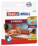 tesa UK D-Profile Draught Excluder for Doors and Windows 6 m x 9 mm - Brown