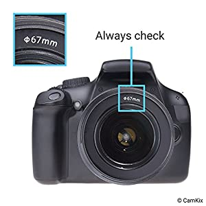 Camera Lens Hood set - Tullip & Rubber - Set of 2 - Sun Shade / Shield - Reduces Lens Flare and Glare - Blocks Excess Sunlight for Enhanced Photography and Video Footage - Perfect Fit by CamKix