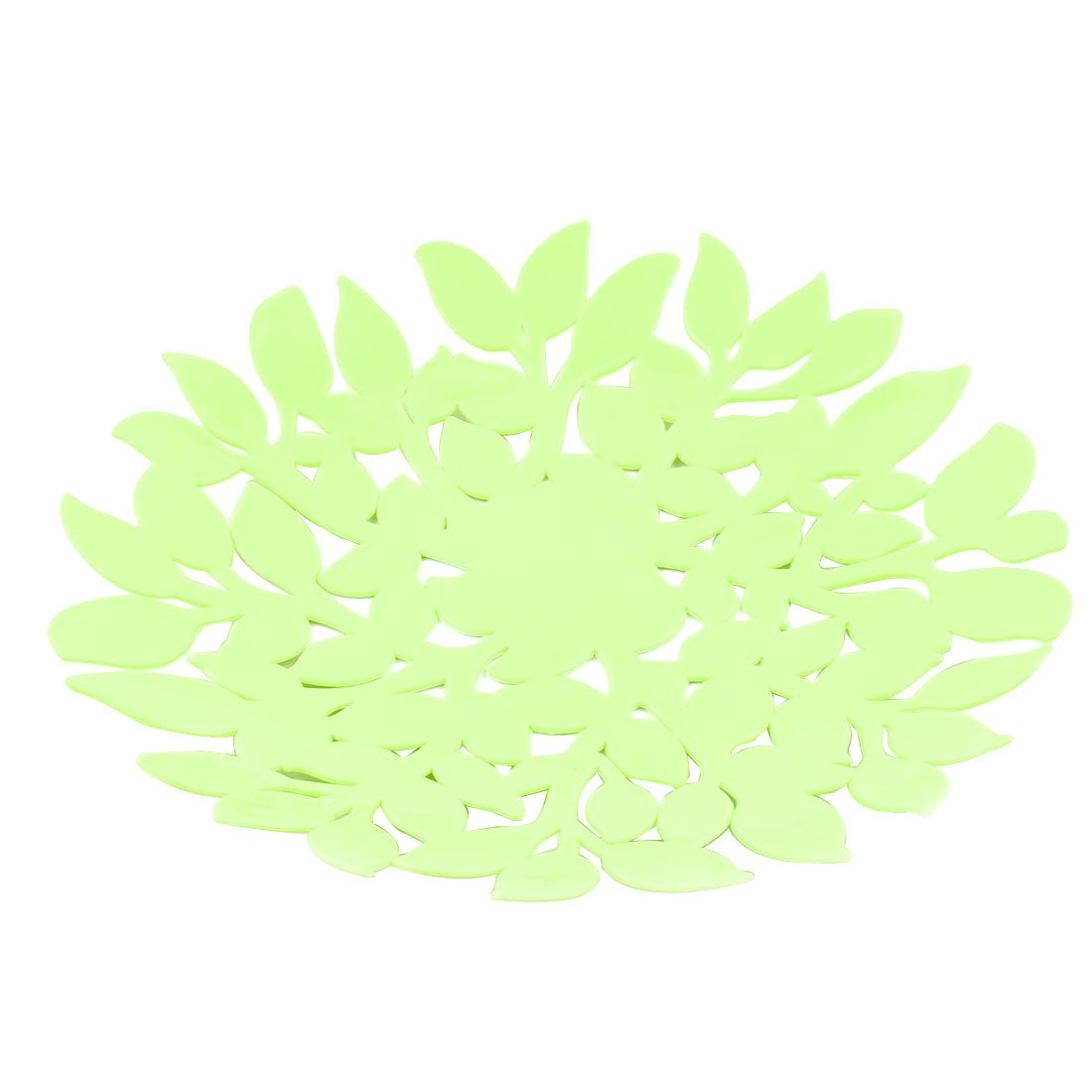 uxcell Plastic Home Leaf Design Fuit Banana Apple Vegetable Candy Holder Plate Basket Green