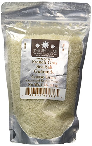 """The Spice Lab French Gray Coarse Sea Salt - """" Sel Gris De Guérande """" - Nutrient and Mineral Fortified for Health - Premium Gourmet Brand - 1 Pound Bag"""