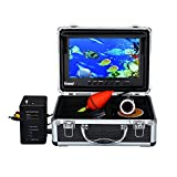 Eyoyo Portable 9 inch LCD Monitor Fish Finder HD 1000TVL Fishing Camera Waterproof Underwater DVR Video Cam (9 inch Infrared Lights(30m))