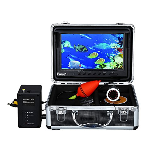 Eyoyo Portable 9 inch LCD Monitor Fish Finder HD 1000TVL Fishing Camera Waterproof Underwater DVR Video Cam 30m Cable 12pcs IR Infrared LED for Ice,Lake and Boat Fishing by Eyoyo
