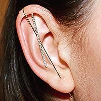 Pair of Ear Wrap Crawler Hook Earrings,Gold Simple Hypoallergenic Women Crawler Earrings - Classic Fashion Jewelry Hook…