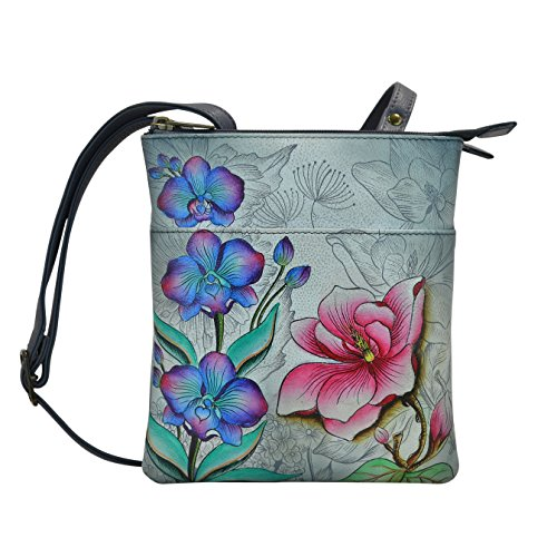 Anuschka Handpainted RFID Blocking Triple Compartment Floral Fantasy