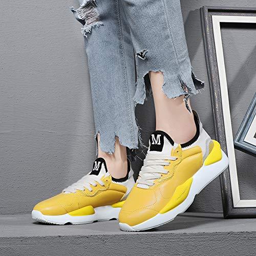 de Zapatos Zapatos Super Zapatos Transpirable Mujer yellow Zapatos Correr AJUNR Deportivos para wqWxaAnTFz