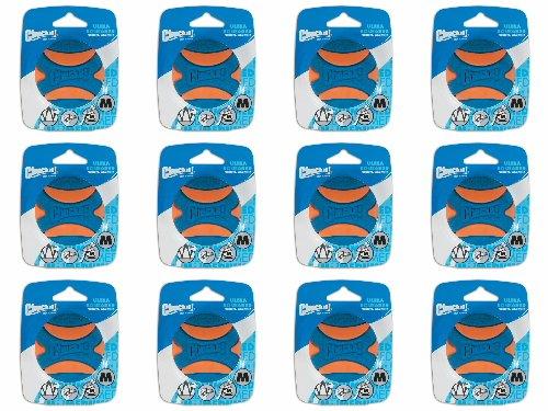 Chuckit! Ultra Squeaker Ball Orange & Blue, Medium 12ct (12 x 1ct)