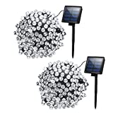 Image of Cymas [Upgraded] (Cool White) Solar String Lights, 72ft 200LED Christmas Fairy String Lights, Decorative String Lights for Outdoor Patio Lawn Garden Yard Wedding Holiday Party Christmas