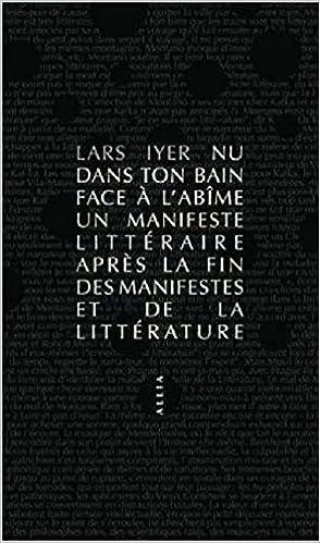 Lars Iyer - Nu dans ton bain face à l'abîme (Rentrée Littéraire 2016)