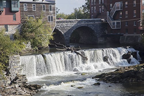 Photograph- Middlebury Falls, a waterfall on the Otter Creek in the heart of downtown Middlebury, Vermont. The falls once powered several mills in this industrial community 2 66in x 44in