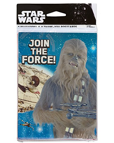 American Greetings Star Wars Episode 8 Invite and Thank You Combo, -