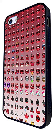1259 - Cool Fun Trendy Cute Funny Emoji Apps Evil Happy Icon Emoticon Fashion Design iphone SE - 2016 Coque Fashion Trend Case Coque Protection Cover plastique et métal - Noir