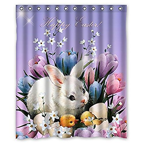 Family Decor Best Home Fashion Happy Easter New Style Custom Shower Curtain 60