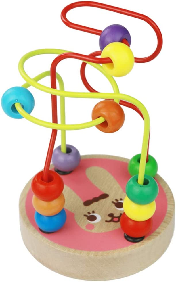 umu Bead Maze Toy for Toddlers Wooden Colorful Roller Coaster Game Best Gift for 3 Educational Toy Abacus for Kids Math 4 and 5 Year Old Boys and Girls