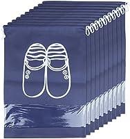 ZeWoo 10 Pcs Scarpe Borse per Viaggiare, Borsa Scarpe da Viaggio Multiuso Coulisse Antipolvere Sacchetti Portascarpe Organza per Sacca da Viaggio Impermeabile con Finestrella Trasparente