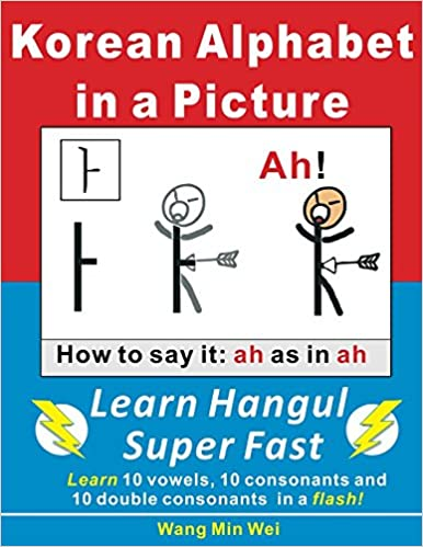 Korean Alphabets in a Picture: Learn Korean Alphabets (Hangul) Super