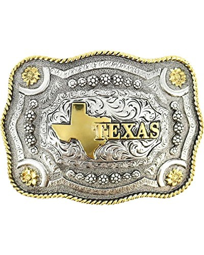 Cody James Men's Texas Rectangular Belt Buckle Multi One Size