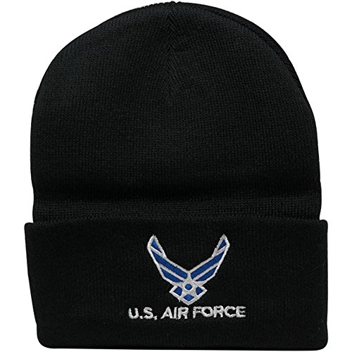 Broner Hats Military and Law Enforcement Watch Cap Cuff Beanie - Airforce - Black