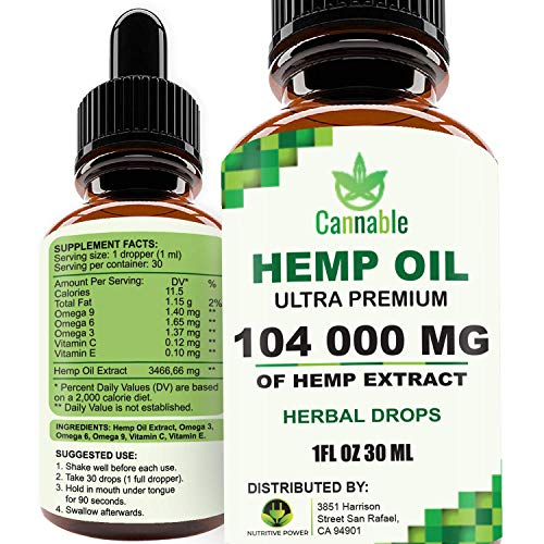 51f6eIRv62L - Hemp Oil Extract 104 000 mg, All-Natural Drops for Pain, Stress, Anxiety Relief, Deep Restful Sleep