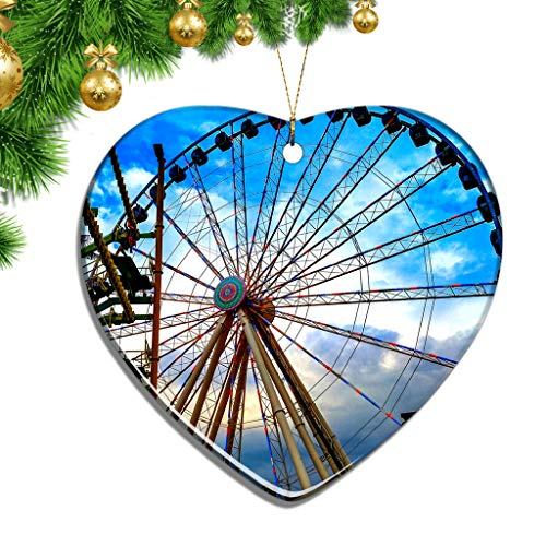 Shopping In Pigeon Forge (Hqiyaols Ornament USA America The Island in Pigeon Forge Christmas Ornaments Ceramic Sheet Souvenir City Travel Pendant Gift Tree Door Window Ceiling Decoration)