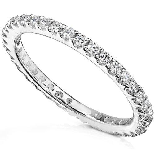Diamond Eternity Band 1/2 carat (ctw) in 14K White Gold, Size 4, White Gold