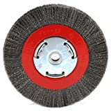 6 inch fine grinder wheel - Forney 72751 Wire Bench Wheel Brush, Narrow Face Fine Crimped with 1/2-Inch and 5/8-Inch Arbor, 6-Inch-by-.008-Inch