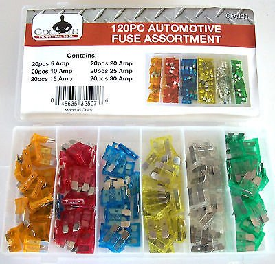 Industrial Fuse - 120pc Goliath Industrial Car Blade Fuse Box Assortment FuseS Truck Rv Automotive