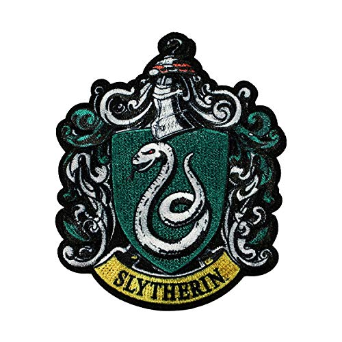 Harry Potter Slytherin Patch Hogwarts Crest House Embroidered Iron On Applique ()