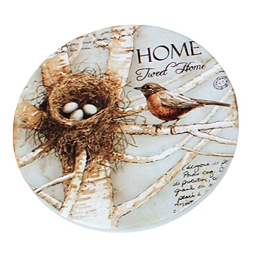 (Bird's Nest) 4 PCS American Scald-proof Cup Tray Round Cup Mat Place Mats