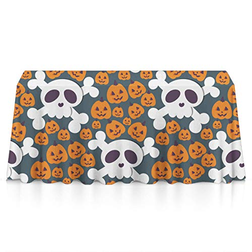 GLORY ART Happy Halloween Party Premium Tablecloths Home Decor Extra Large Rectangle Tablecloth Tapestry 60x84 inch, Perfect for Buffet Table, Parties, Patio, Holiday Dinner, Wedding,Picnic]()